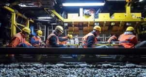 09/06/2015 , Suivi de chantier a Hallencourt.Remplacement de rails par le BOA.