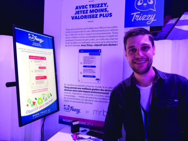 La start-up Mr Bot conçoit et réalise des agents conversationnels pour les sites internet des entreprises et collectivités. Avec sa nouvelle offre Trizzy, elle cible la problématique des déchets.